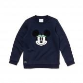 Unisex Crew Neck Disney Print Fleece Sweatshirt
