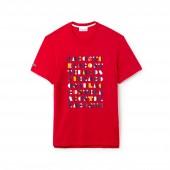 Mens Crew Neck 3D Lettering Cotton Jersey T-shirt