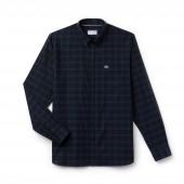 Mens Motion Regular Fit Check Cotton Twill Shirt