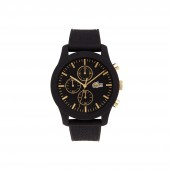 Mens Lacoste 12.12 Watch with Black Silicone Strap