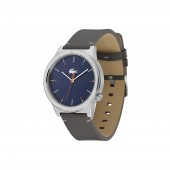 Mens Motion Watch with Grey Leather Strap