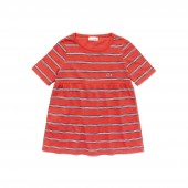 Girls Striped Cotton And Linen T-Shirt
