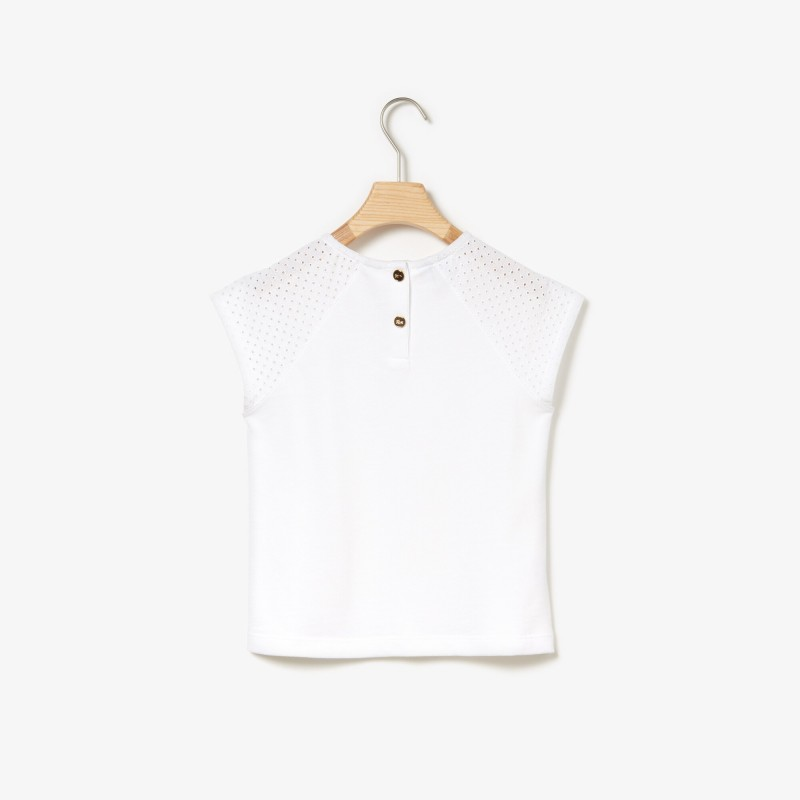 [라코스테] Girls' Crew Neck Jersey T-shirt