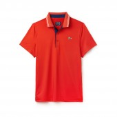Mens SPORT Lettering Stretch Technical Jersey Golf Polo Shirt