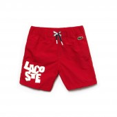 Boys Lettering Canvas Swimming Trunks