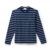 Mens Crew Neck Striped Jersey T-shirt