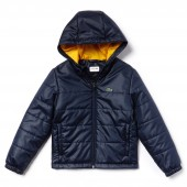 Boys SPORT Hooded Quilted Taffeta Tennis Jacket