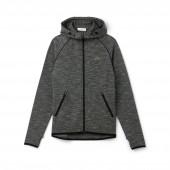 Womens SPORT Hooded Zip Piped Tennis Sweatshirt