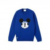 Mens Crew Neck Disney Mickey Embroidery Interlock Sweater