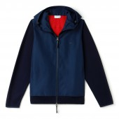 Mens Motion Hooded Zippered Jersey Sweater