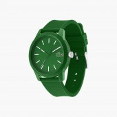 Mens Lacoste 12.12 Watch with Green Silicone Strap