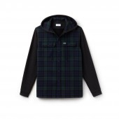 Mens Regular Fit Hooded Check Cotton Flannel Shirt