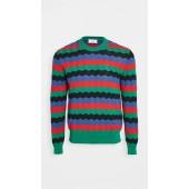 Multi Color Plaid Striped Sweater