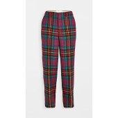 Multi Color Plaid Wool Trousers