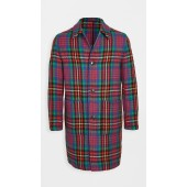 Multi Color Plaid Wool Topcoat