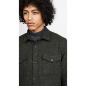 Long Sleeve Brushed Twill Overshirt