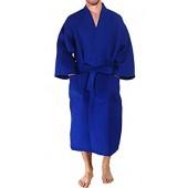 Simplicity Men's 100% Cotton Waffle Weave Kimono Robe Bathrobe
