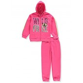 Girls Luv Pink Girls' 2-Piece Sweatsuit Pants Set