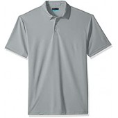PGA TOUR Men's Short Sleeve Airflux Solid 2.0 Polo Shirt