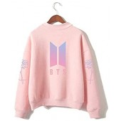 HelloTem BTS Kpop Unisex Sweatshirt Round High Neck Pullover Casual Printed Love Yourself Hoodie