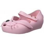 Mini Melissa Ultragirl Rabbit Peep Toe Flat (Toddler)