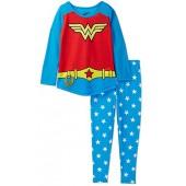 DC Comics Wonder Woman Pajama for Girls, Kids Sizes 6-12