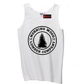 Comical Shirt Men's Morning Wood Lumber Company Tank Top