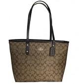 Coach Signature City Zip Tote Bag Handbag