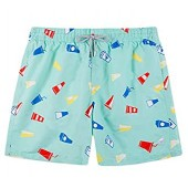 SURF CUZ Men's Floral Print Quick Dry Swim Trunk