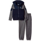 Lacoste Boys' Woven/Fleece FZ Hood Tracksuit