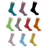 10 Pair Socks Combed Cotton Casual Spring & Autumn Sock Solid Color For Women Size 5-10
