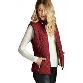 Active USA Quilted Padding Vest With Suede Piping Details Sizes from S-3XL