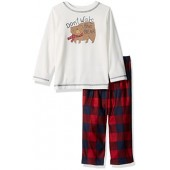 Gymboree Big Boys' Bear and Plaid Pajamas