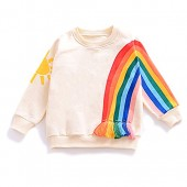 YOHA Baby Girls Autumn Soft Rainbow Top Blouse Long Sleeve Toddler Casual Tops