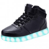 KUshopfast Kids Light Up Shoes Boy and Girl High Top LED Energy Lights Sneakers(Perfect Gift For Children&Teens)
