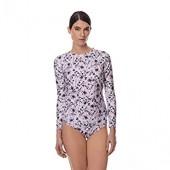 August Society Lanai Rash Guard - Women&rsquos eco Swim Shirt &ndash Sun Protecting UPF 50+