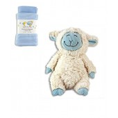 Baby Receiving Blankets with Lammy-Do Stuffed Lamb Toy-Gift Set-Boys, Blue