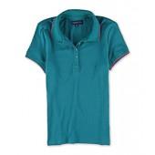 Aeropostale Womens Solid Polo Shirt