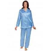 Carol Wright Gifts Brushed Back Satin Pajamas