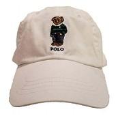 폴로 랄프 로렌 남성용 테디 베어 조절 가능한 볼 캡 모자