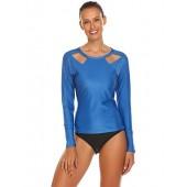 Tilloe Women's Long Sleeve Swimwear Tops UV Sun Protection Surf Shirts Athletic Tops