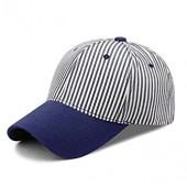Adagod Hat, Unisex Fashion Baseball Caps Adjustable Striped Sports Cap Visor Sun Hat