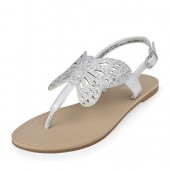 The Children's Place Kids' BG Butterfly Can Flat Sandal