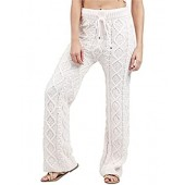 POL Clothing Women's Ultra Soft and Fuzzy Cable Knit Pajama Lounge Pants