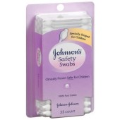Johnson & Johnson Safety Swabs 55 Ct(pack of 3)