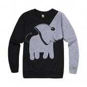 Lyxinpf Little Boys Cute Elephant Sweatshirts Crew Neck Pullover Tops Long Sleeve Shirts For Kids