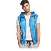 DKNY Jeans Swirl-Print Ripstop Vest Blue XLarge
