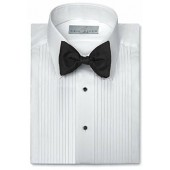 Neil Allyn Mens Tuxedo Shirt Poly/Cotton Laydown Collar 1/4 Inch Pleat