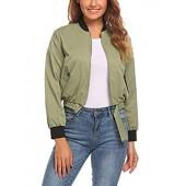 bee806edd20 Women s Soft Shell Jacket Lightweight Jacket Stand Collar Bomber Jacket  Slim Jacket