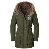80ce397c7cf Escalier Women s Military Hooded Warm Winter Faux Fur Lined Parkas Anroaks  Long Coats